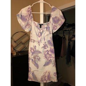 Forever 21 sweetheart neckline summer floral dress